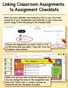 Free Assignment Checklists for Google Classroom