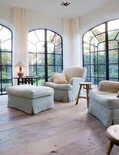 windows. light wood floors