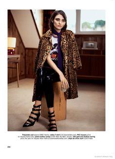 Carolina Thaler Wears Animal Prints for Glamour UK by Naomi Yang