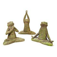 Meditating Garden Frogs at Big Lots.