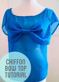 Chiffon Bow Top sewing tutorial  (has a flyaway back!)