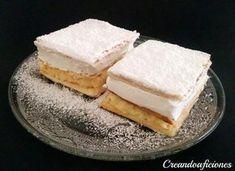 Milhojas de merengue y crema pastelera