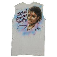 fd59edb5904 Michael Jackson Shirt Vintage tshirt 1980s Thriller Airbrushed