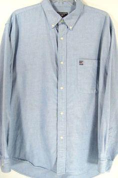 Ralph Lauren Men Button-Front Shirt Size XL Blue 100% Cotton.  HHH 52 #RalphLauren #ButtonFront