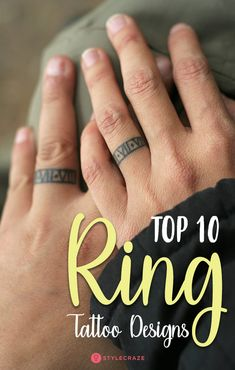 59 Best Couples Ring Tattoos Images Ring Tattoos Tattoos