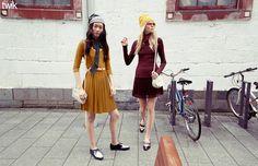 Bean(ie) town | Twik Jewel-Toned Micro Lace Accordion Skirt & Finely-Ribbed Basic Sweater | La Maison Simons #backtoschool #style #fallfashion