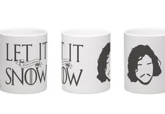 Game of Thrones mug, Jon Snow, Let It Snow Winter is Coming mug, ASOIAF quote mug, GOT fans gift, game of thrones gift, you know nothing jon
