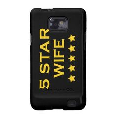 Funny Cool Gifts for Wives : Five Star Wife Samsung Galaxy SII Cases