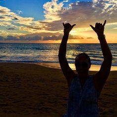 Cheers to the weekend!! #AlohaFriday #MauiSunset #BeachDate