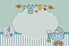 Cochecito Celeste de Bebé: Invitaciones para Imprimir Gratis. | Ideas y material gratis para fiestas y celebraciones Oh My Fiesta!