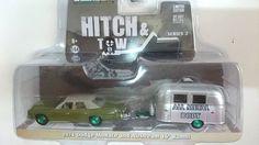 GREEN MACHINE GreenLight 1/64 Dodge Monaco & Airstream Bambi Hitch & Tow 2 #GreenLight #Dodge