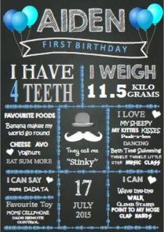 Moustach Magic Milestone - Birthday Chalkboard D11 – Rainbow Magic