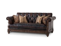 Shop for Aico Amini Innovations Leather Sofa, 37915-DKBRN-58, and other Living Room Sofas at Osmond Designs in Orem Lehi & Salt Lake City, Utah. Opt1.