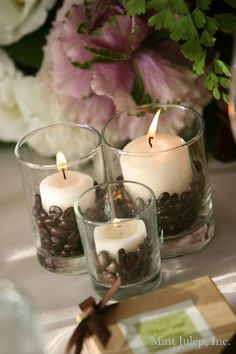 Coffee Bean Candle Accents - Mint Julep Social Events.