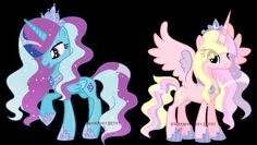 Alicorn Twins (Princess Sapphire Gem and Pastel Moon) - adopted
