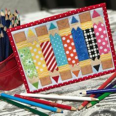 Pencil Box Mug Rug Free Pattern By Sches Of Love For Teachers Day Sewing Patterns