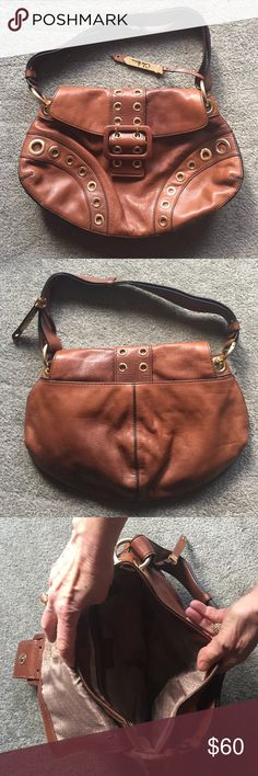 "Cole Haan Hobo Bag •Used but still in descent condition just wrinkled •14"" by 9"" •1 pocket on inside and a big pocket on the back Cole Haan Bags Hobos"