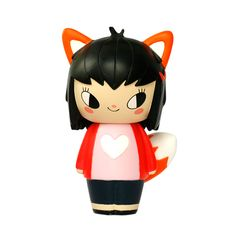 Vixen PMomiji are handpainted resin message dolls. Turn them upside down...inside every one theres a tiny folded card for your own secret message. /PPSpread the love./PPAll dolls are approx 8cm (3in) tall./P