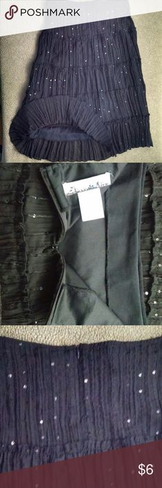 Star City Boho Skirt w/Sequins Skirt Very pretty lightweight skirt Back Hidden Zipper Sequins throughout skirt Size 5 100% Polyester Waist 30 Length 28 Skirts