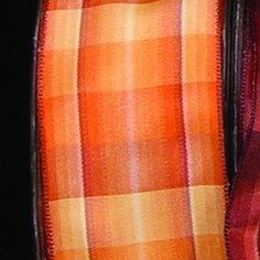 Orange Ombr Plaid French Wired Craft Ribbon 15 x 27 Yards >>> You can find more details by visiting the image link.