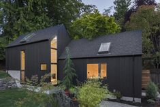This Granny Pad Went From Backyard Garage to Tiny House — Architectural Digest : This Granny Pad Went From Backyard Garage to Tiny House See the transformation that helped a Seattle family make more space Architectural Digest, Tiny House, Cabinet D Architecture, Old Garage, Backyard Cottage, Sweet Home, Cedar Siding, Wood Siding, Granny Flat