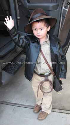 My middle son wants to be Indiana Jones ... maybe this costume will be cute after all! This little guy is pretty adorable.