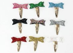 glitter snap clips, christmas hair clip, baby christmas headband, glitter hair clips, christmas snap clips