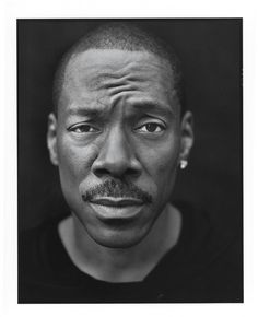 Eddie Murphy (by Mark Seliger) Black And White Portraits, Black And White Photography, Mark Seliger, Most Handsome Actors, Celebrity Portraits, Male Portraits, Studio Portraits, Eddie Murphy, Handsome Black Men