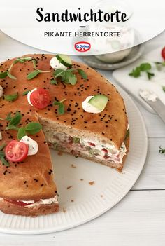 Sandwich Torte, Salmon Burgers, Pancakes, Sandwiches, German, Cooking, Breakfast, Ethnic Recipes, Party