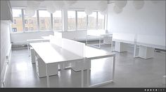 Spaceist have supplied minimalist white office furniture for pure life experiences at Westbourne Studios in London. White Office Furniture, White Desk Office, Colorful Furniture, Corporate Office Design, Minimalist Office, Workspace Inspiration, Coaster Furniture, Furniture Companies, Office Interiors
