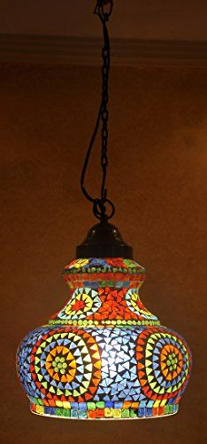 Ethnic Designer Indian Home Decor Glass Hanging Lamp Lalhaveli http://www.amazon.com/dp/B00P7RBY38/ref=cm_sw_r_pi_dp_6R.8vb0F7BVPS
