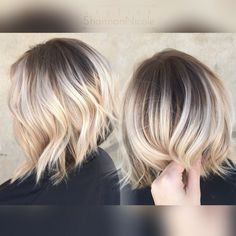 Short blonde hair ombré, sombre, balayage!