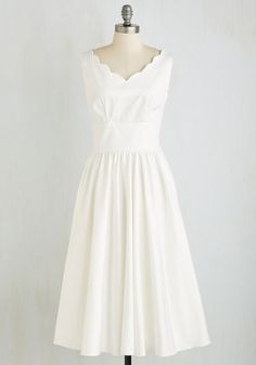 Periwinkle and a Smile Dress in White | Mod Retro Vintage Dresses | ModCloth.com