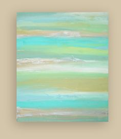 """Original Acrylic Abstract Fine Art Painting on Gallery Canvas Titled: FROSTED GLASS. 30x36x1.5"""" by Ora Birenbaum. $345.00, via Etsy."""