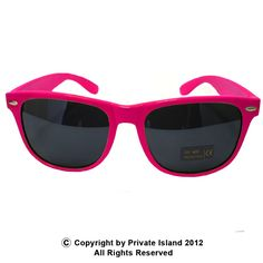 e231322478ec Private Island Party - Hot Pink Wayfarer Style Sunglasses 1054