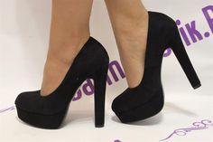 Туфли на широком каблуке и на платформе
