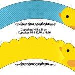 Saias Wrappers para Cupcakes Patinho Amarelo: