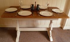 STUNNING VINTAGE ERCOL style DINING TABLE ELM SEATS 6 CHIC NoT SHABBY