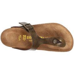 Birkenstock Gizeh Birko-Flor ($95) ❤ liked on Polyvore featuring birkenstock sandals, birkenstock footwear, birkenstock shoes and birkenstock
