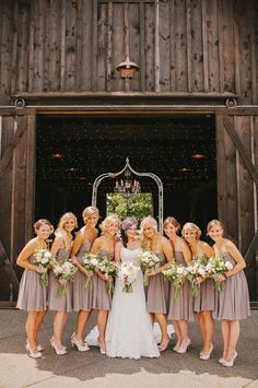 Love the color of the bridesmaids dresses!