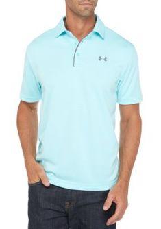 4f7ff730ded7 Under Armour Men s Tech™ Polo Shirt - Light Blue - L Polo Shirt Outfits