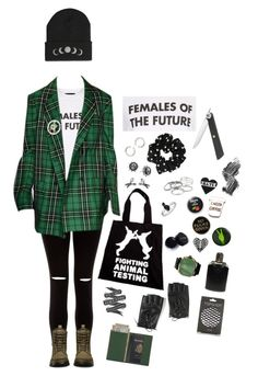 """""""Rebel Girl"""" by km-r7 ❤ liked on Polyvore featuring New Look, Topshop, Dr. Martens, H&M, Expressions, Miss Selfridge, Kendra Scott, Shun, King Baby Studio and Torrid"""