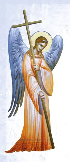 Byzantine Icon of an angel.