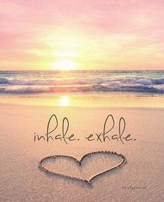 It's a NEW DAY! Inhale positivity, happiness and light. Exhale stress, sadness and fear. Feed your soul with good thoughts and let everything else . go ☀️ Just breathe. I Love The Beach, Beautiful Beach, Sunny Beach, All Nature, Am Meer, Belle Photo, Inspirational Quotes, Motivational Quotes, Positivity