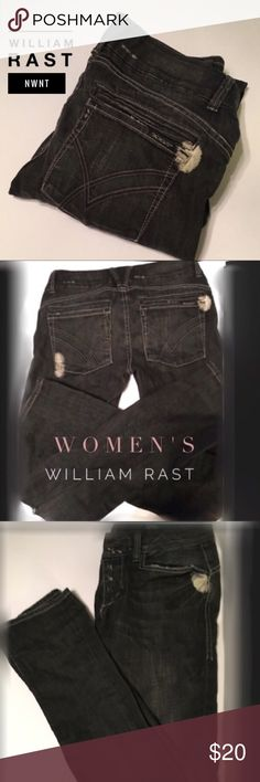"""🏆William Rast S:29 Justin Timberlake SkinnyJeans 🏆William Rast S:29 NWNT Extra Length 34""""Justin Timberlake • Skinny Jeans • Skinny Leg • Distressed Low Rise • NEVER WORN NO TAGS • Extra Length 34"""" • Brand name: Sandy • Dark blue w distressed design • Fast Shipping • (dual posting only one pair available so act fast) 😊 William Rast Jeans Skinny"""