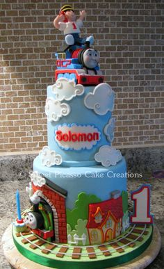 """A small and tall cake (6"""" + 4""""; each tier..."""