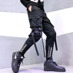 Men Hip Hop Ribbons Streetwear Harem Pants – Kidenhouse Harem Pants Men, Cargo Pants, Trousers, Moda Outfits, Pantalon Cargo, Fashion Pants, Fashion Fashion, Trendy Fashion, Fashion Ideas