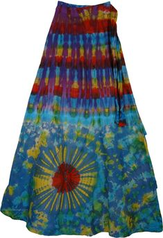 Eminence Cotton Wrap Around Skirt Tie Dye Outfits, Casual Outfits, Mode Hippie, Lace Jeans, Wrap Around Skirt, Gypsy Style, Boho Gypsy, Gypsy Skirt, Skirt Patterns Sewing