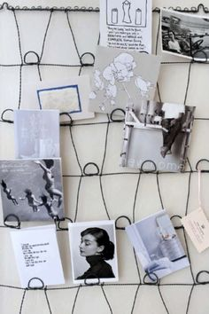I actually have this exact wire memo board hanging in my kitchen, except in a beautiful sage green. Functional can be pretty :) Do It Yourself Inspiration, Do It Yourself Projects, Room Inspiration, Wire Memo Board, Memo Boards, Art Fil, Picture Holders, Mattress Springs, Bed Mattress