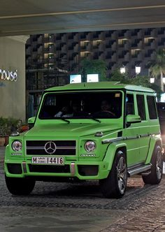 Mercedes G-class - my dream car, but not this exact shade of green